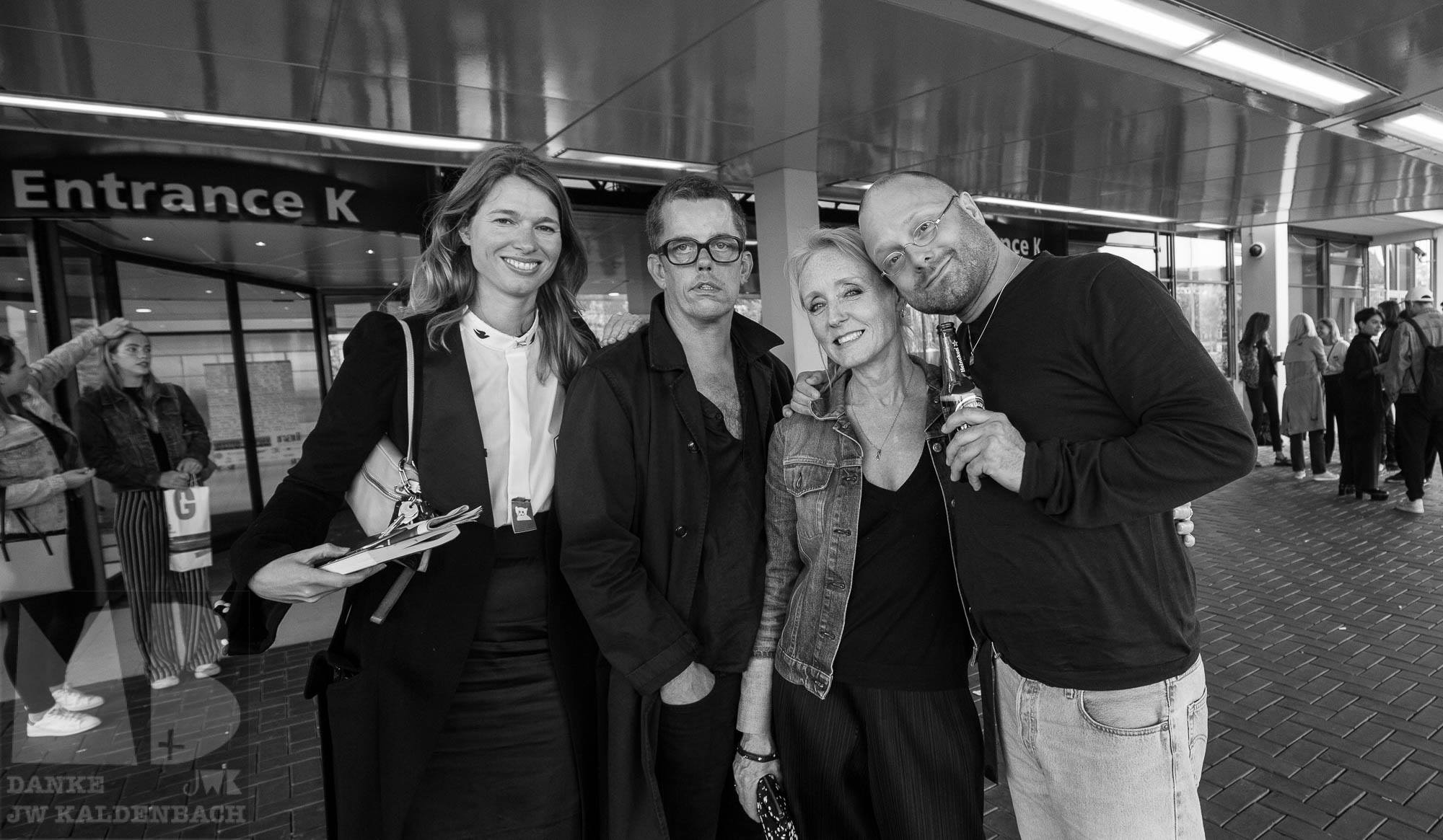 proud teachers Amie Dicke, Niels Klavers (head of the Rietveld fashion department), moi & Oscar Raaijmakers, snapped by JW Kaldenbach